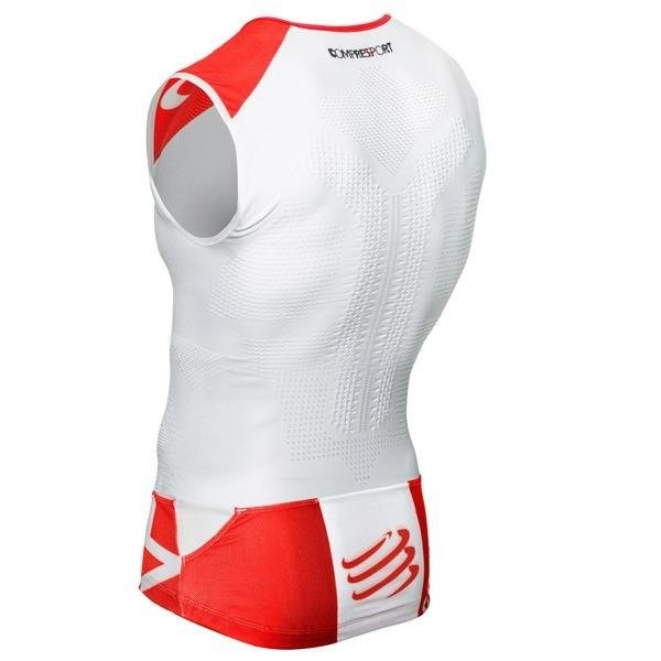 Compressport TR3 TANK TOP - triathlon t-shirt (white)
