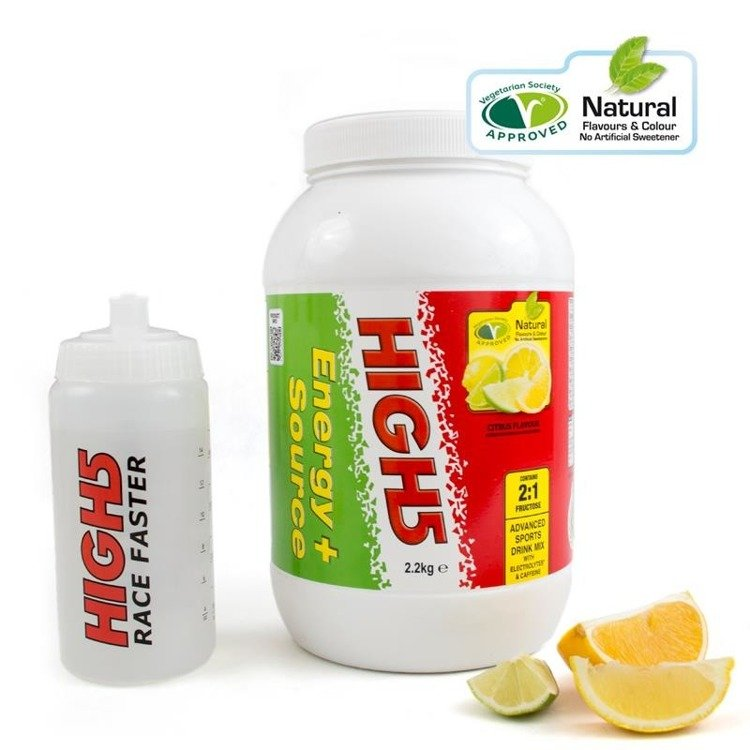 High5 Energy Source Plus 2.2kg - carbohydrate drink (citrus)