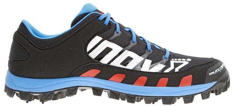 Inov-8 Mudclaw 300 CL Unisex - running shoes on the ground (black-blue-red)