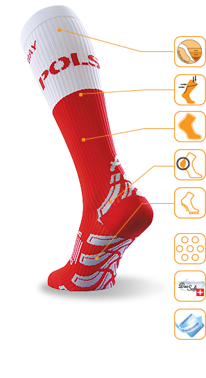 Royal Bay Classic - knee compression (white)